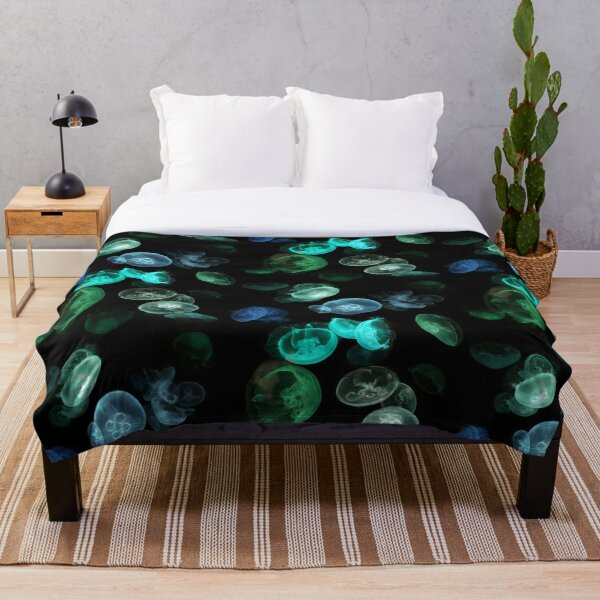 Luminous Jellyfish Throw Blanket