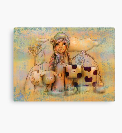 Mary had a little cow Canvas Print