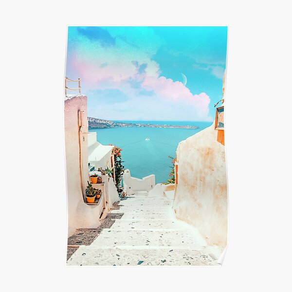 Surreal Greece #photography #travel  Poster