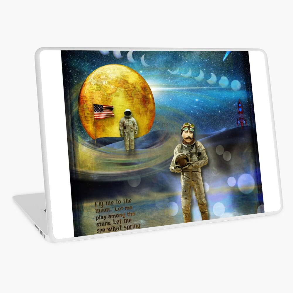'FLY ME TO THE MOON' Laptop Skin