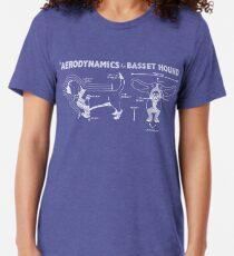 The Aerodynamics of a Basset Hound Tri-blend T-Shirt