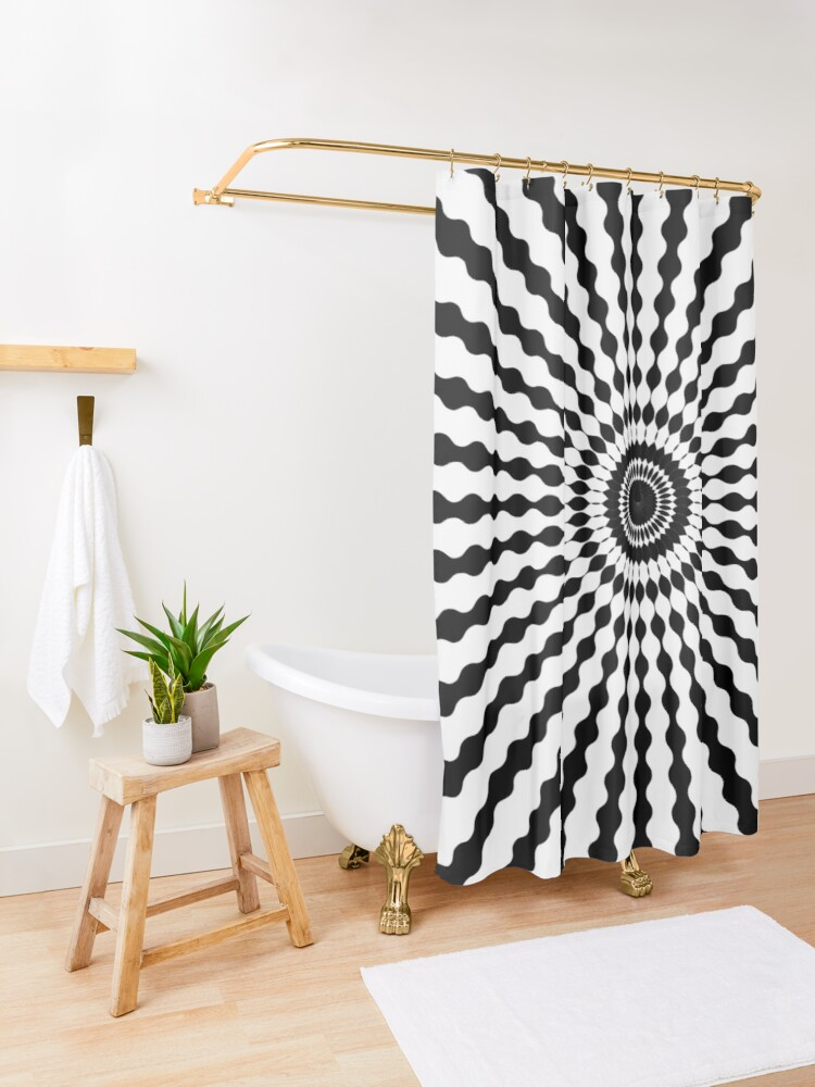 Alternate view of #design, #illustration, #pattern, #abstract, decoration, art, vector, element Shower Curtain
