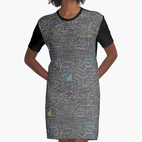 Math Lessons Graphic T-Shirt Dress