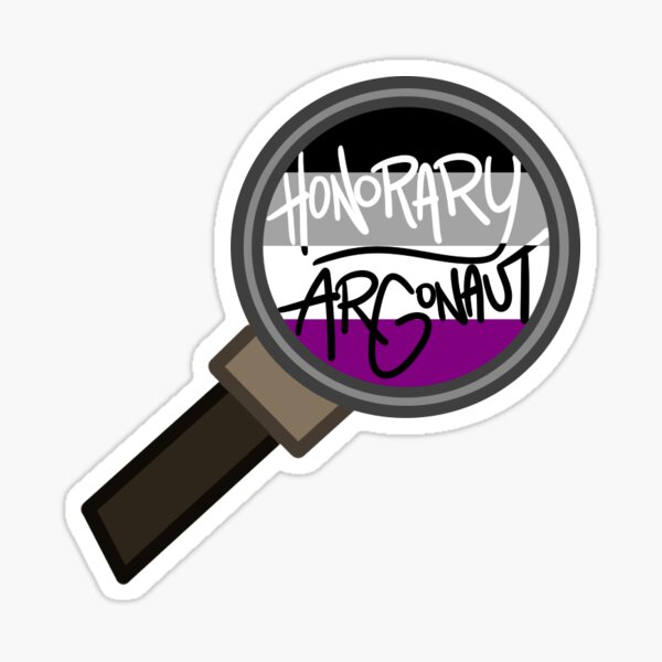 Honorary ARGonaut Sticker (Asexual) Sticker