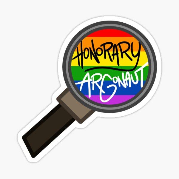Honorary ARGonaut Sticker (Gay Pride) Sticker