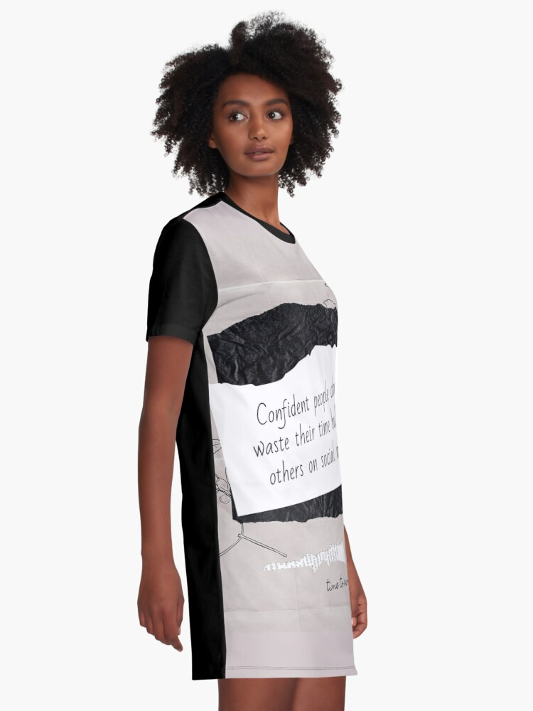 Alternate view of Cyberbullying: Lesson Learned Graphic T-Shirt Dress