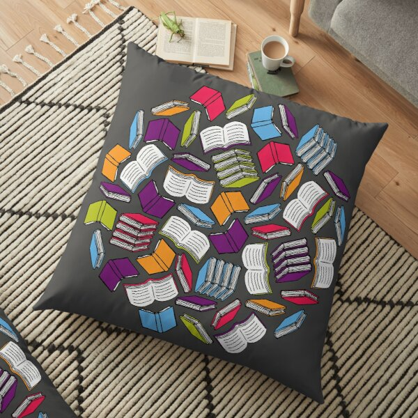 So Many Colorful Books... Floor Pillow