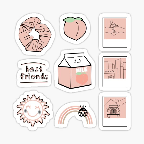 Light Purple Best Friends Aesthetic Sticker Pack Sticker By The Goods Redbubble