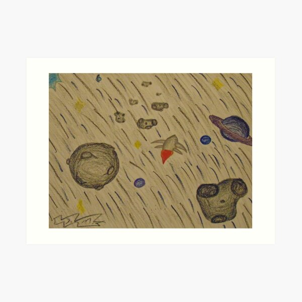 Another Day in the Asteroid Belt Art Print