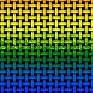 Regenbogen-Steigung gemaltes Webart-Muster von MarkUK97