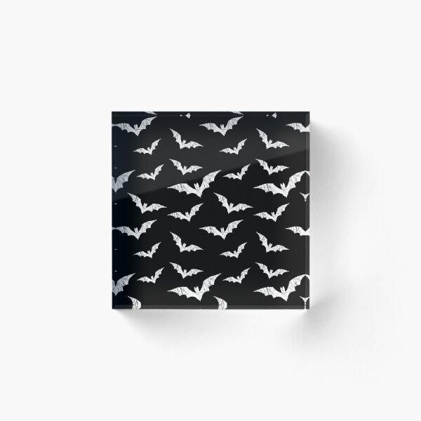 Bats Pattern Acrylic Block