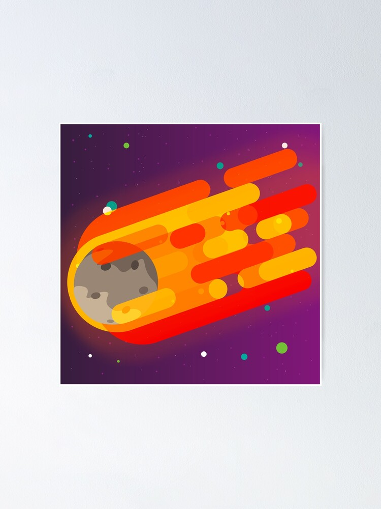 Alternate view of Radiant Asteroid Poster