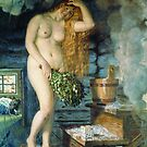 #Russian #Venus, Boris Kustodiev, Famous #Nude Painting (Nu) #RussianVenus by znamenski