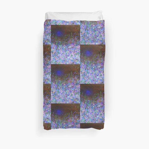 Flower Meadow Blue night Duvet Cover