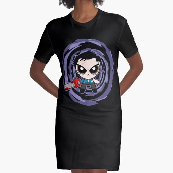 Evil Dead Vortex Graphic T-Shirt Dress