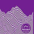 Mountain contours - white by nwrdmerch