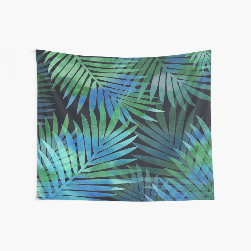 Tropical Memories in Relaxing Palms Wall Tapestry