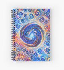 #Deepdreamed Abstraction Spiral Notebook