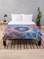 #Deepdreamed Abstraction Throw Blanket