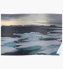Nordkappsundet - Arctic Ice Field Poster