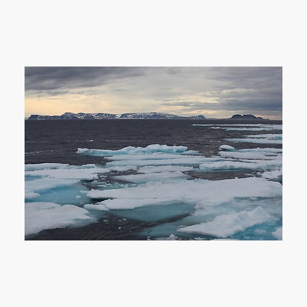 Nordkappsundet - Arctic Ice Field Photographic Print
