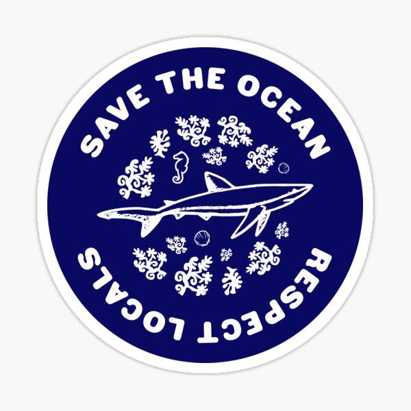 Save The Ocean Sea Animals Sticker