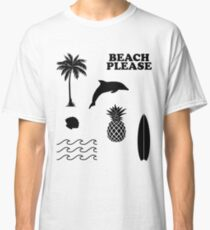 Beach Surf Summer 7er Set Classic T-Shirt