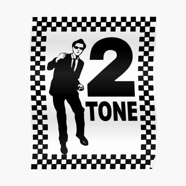 Ska Man Two Tone Genre British Music Poster Punk Rock Black White Picture