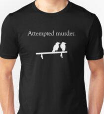 Versuchter Mord (weißes Design) Slim Fit T-Shirt