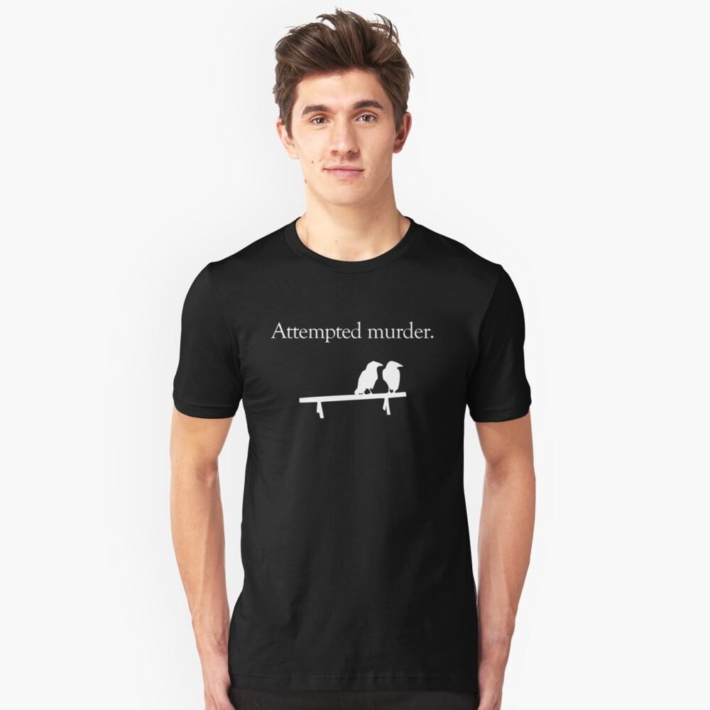 Attempted Murder (White design) Slim Fit T-Shirt