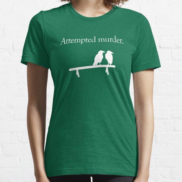 Attempted Murder (White design) Essential T-Shirt