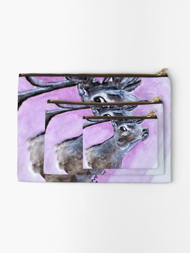 Alternate view of Croatian Stag Zipper Pouch