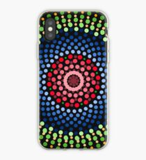 Roses and bluebell circle mandala iPhone Case