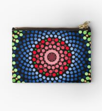 Roses and bluebell circle mandala Zipper Pouch