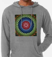 Roses and bluebell circle mandala Lightweight Hoodie