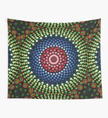 Roses and bluebell circle mandala Wall Tapestry