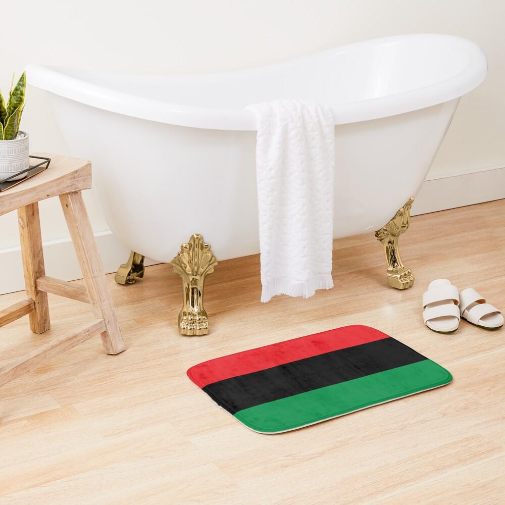 Pan African Flag T-Shirt - UNIA Flag Sticker - Afro American Flag Bath Mat