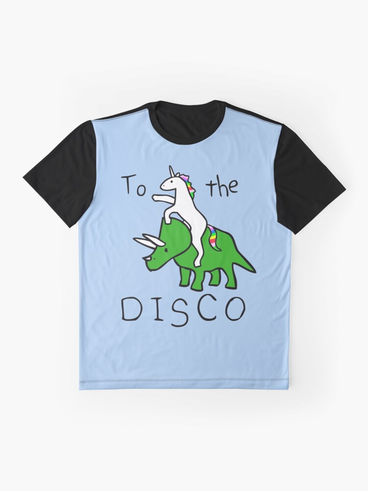 Alternate view of To The Disco (Unicorn Riding Triceratops) Graphic T-Shirt