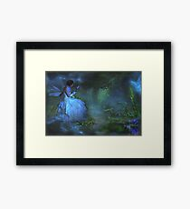 """She sat beside the Dream Pond and wrote to the Lavender Fairy ..."" Framed Print"