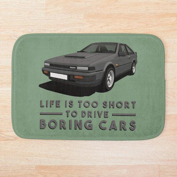 Life is too short to drive boring cars - Nissan Silvia S12 - dark gray Bath Mat