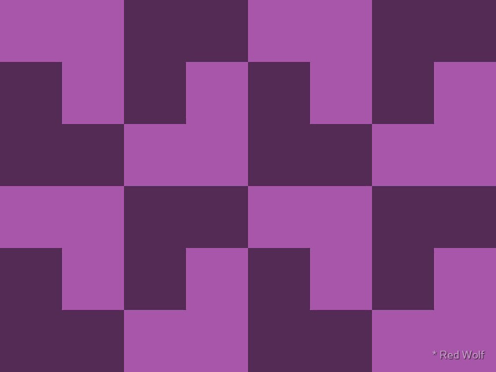 Geometric Pattern: Tetris Ell: Purple Dark by * Red Wolf