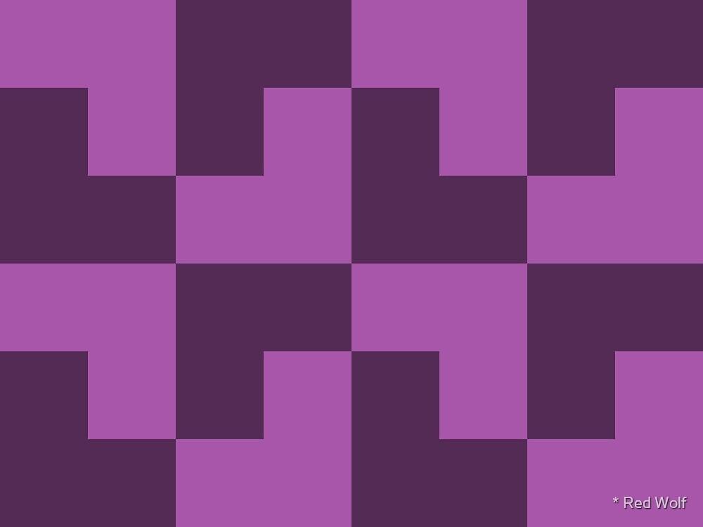 Geometric Pattern: Tetris Ell: Purple Dark by * Red Wolf