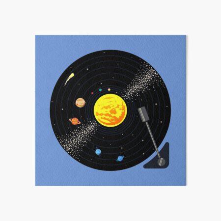 Solar System Vinyl Record Art Board Print