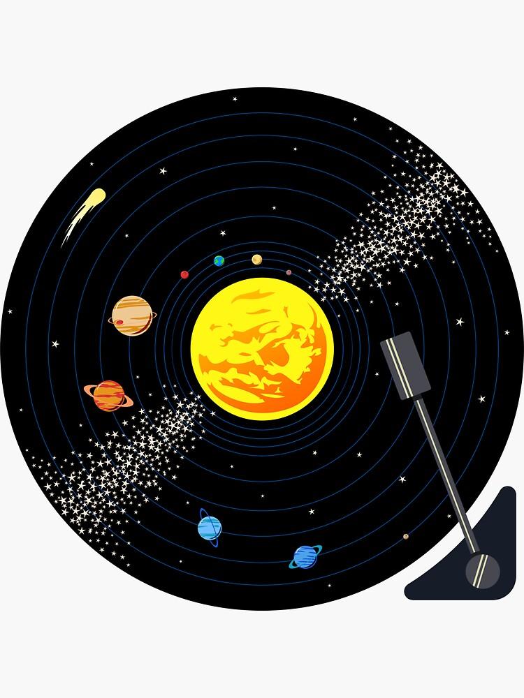 Schallplatte des Sonnensystems von jezkemp