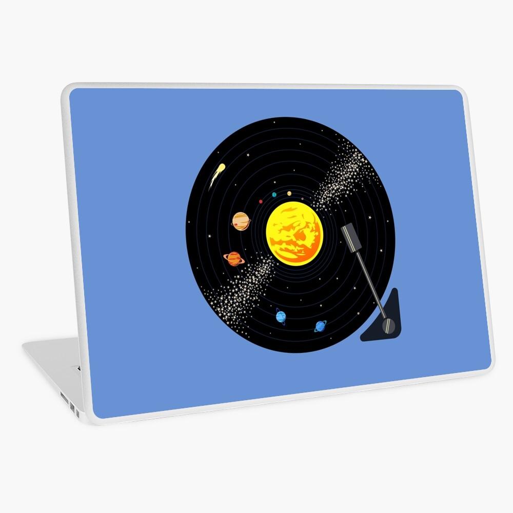 Solar System Vinyl Record Laptop Skin