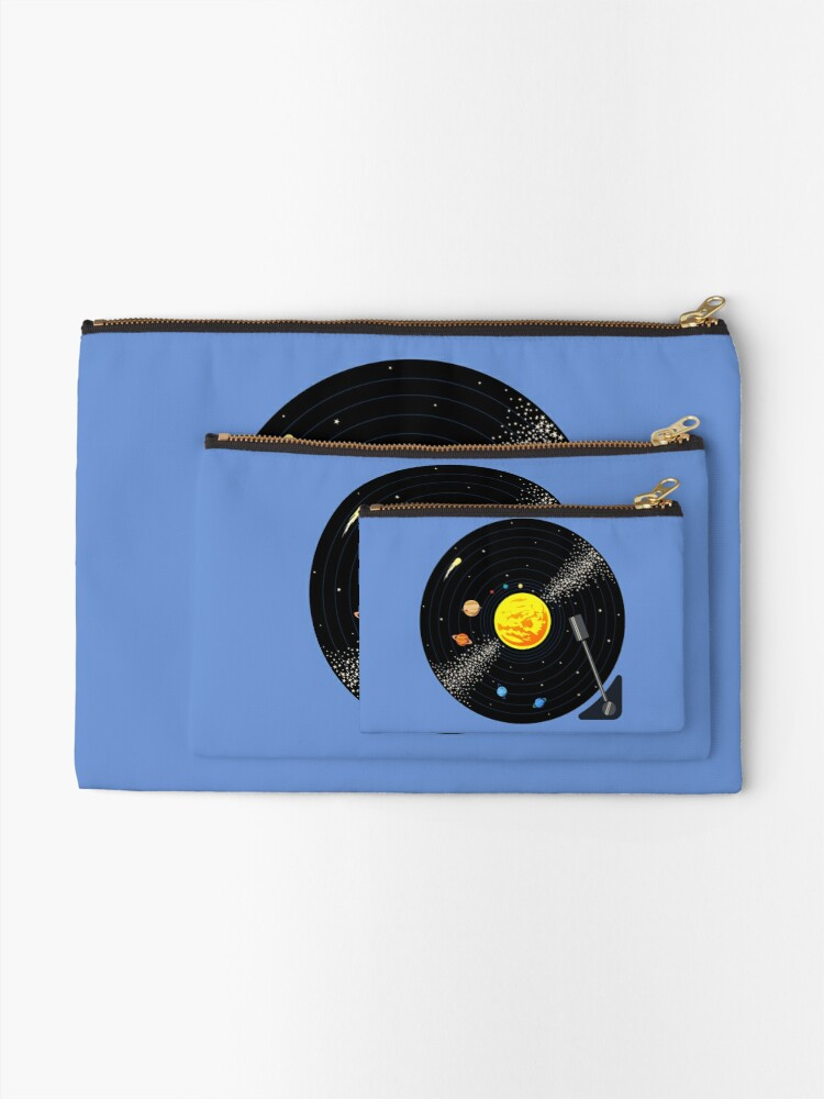 Alternate view of Solar System Vinyl Record Zipper Pouch