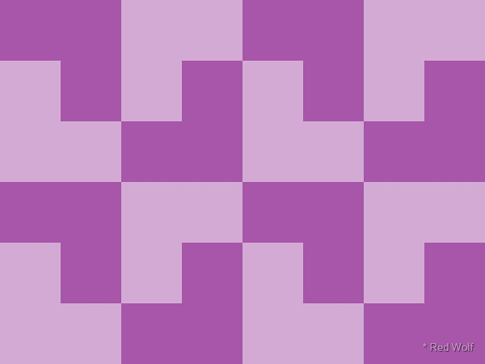 Geometric Pattern: Tetris Ell: Purple Light by * Red Wolf