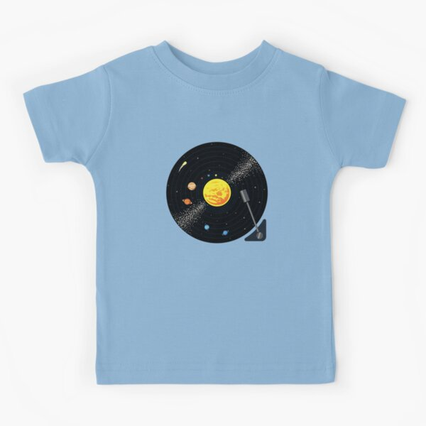 Solar System Vinyl Record Kids T-Shirt