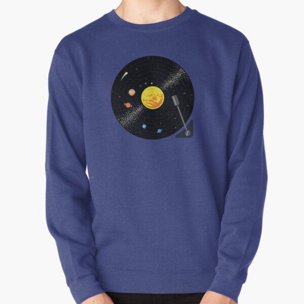 Solar System Vinyl Record Pullover Sweatshirt