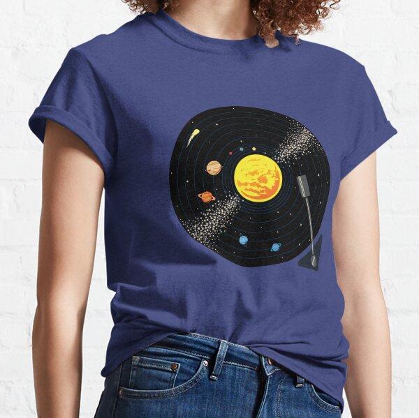 Disco de vinilo del sistema solar Camiseta clásica